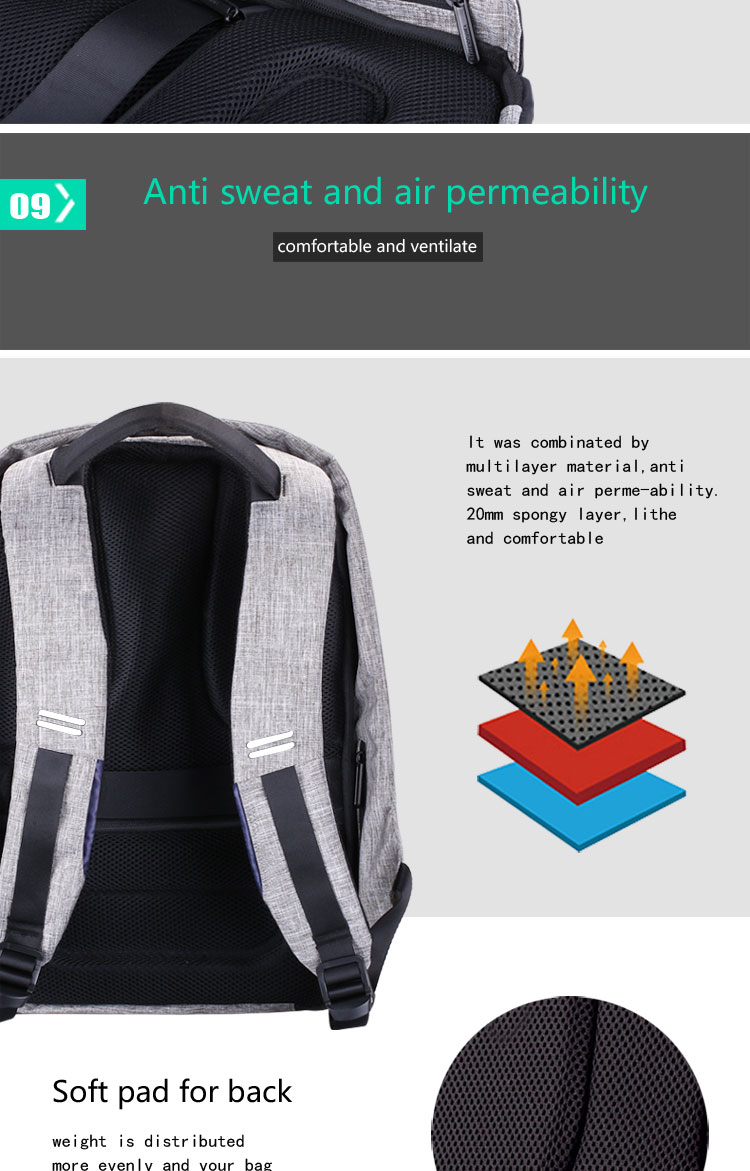 new multi function waterproof anti theft laptop backpacks with usb charging computer accessories special best offer buy one lk sri lanka 67189 - New Multi function Waterproof Anti theft Laptop Backpacks with USB Charging