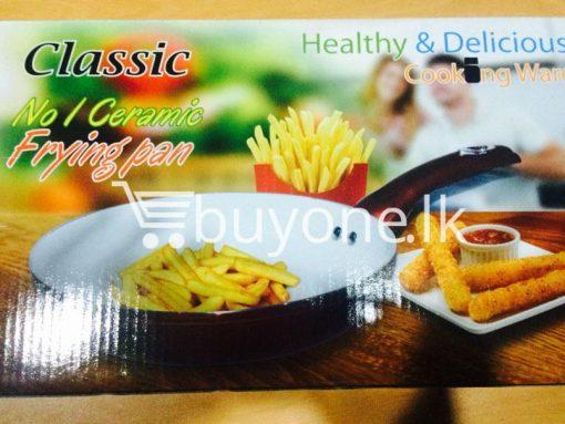 classic no 1 ceramic oil free frying pan 24 cm brand new buyone lk christmas sale offer in sri lanka 8 510x383 - Classic No 1 Ceramic Non Stick Oil Free Frying Pan 24 cm - Brand New