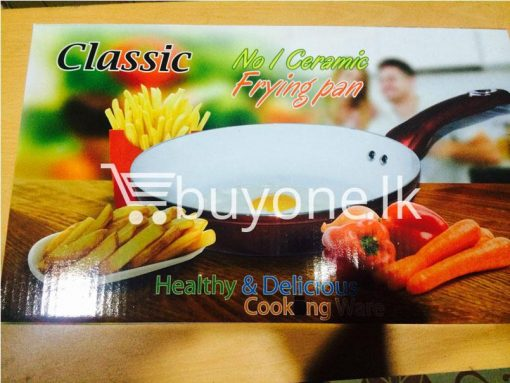classic no 1 ceramic oil free frying pan 24 cm brand new buyone lk christmas sale offer in sri lanka 9 510x383 - Classic No 1 Ceramic Non Stick Oil Free Frying Pan 26 cm - Brand New