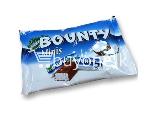 minis bounty chocolate bar 8x pack offer buyone lk for sale sri lanka 510x383 - Minis Bounty Chocolate Bar 8x pack