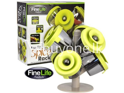 pop up standing spice rack 6 pieces fine life for sale sri lanka brand new buy one lk send gift offers 8 510x383 - Pop Up Standing Spice Rack (6 Pieces) Fine life