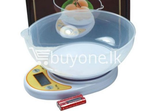 portable electronic kitchen scale lcd display digital with bowl for sale sri lanka brand new buyone lk send gift offers 4 510x383 - Portable Electronic Kitchen Scale LCD Display Digital with Bowl