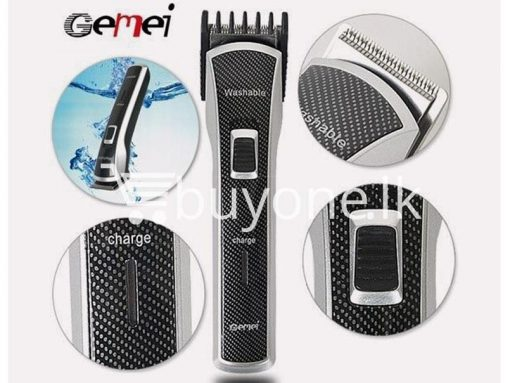 gemei gm656 washable rechargeable hair trimmer home appliances brand new buy one lk vesak sale offer sri lanka 6 510x383 - Gemei GM656 Washable + Rechargeable Hair Trimmer