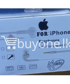 headphone for iphone with mic remote mobile phone accessories brand new sale gift offer sri lanka buyone lk 247x296 - Headphone for iPhone with Mic & Remote