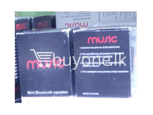 music mini bluetooth speaker black mobile phone accessories brand new sale gift offer sri lanka buyone lk 510x383 - Music Mini Bluetooth Speaker Black