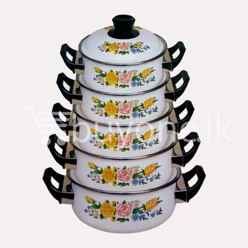 hachi 10pcs enamel ware set home and kitchen special offer best deals buy one lk sri lanka 1453801496 510x510 - Hachi 10Pcs Enamel Ware Set