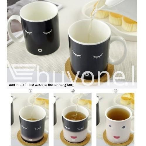 good morning magic heat sensitive coffee mug for coffee lovers home and kitchen special best offer buy one lk sri lanka 61663 - Good Morning Magic Heat Sensitive Coffee Mug For Coffee Lovers
