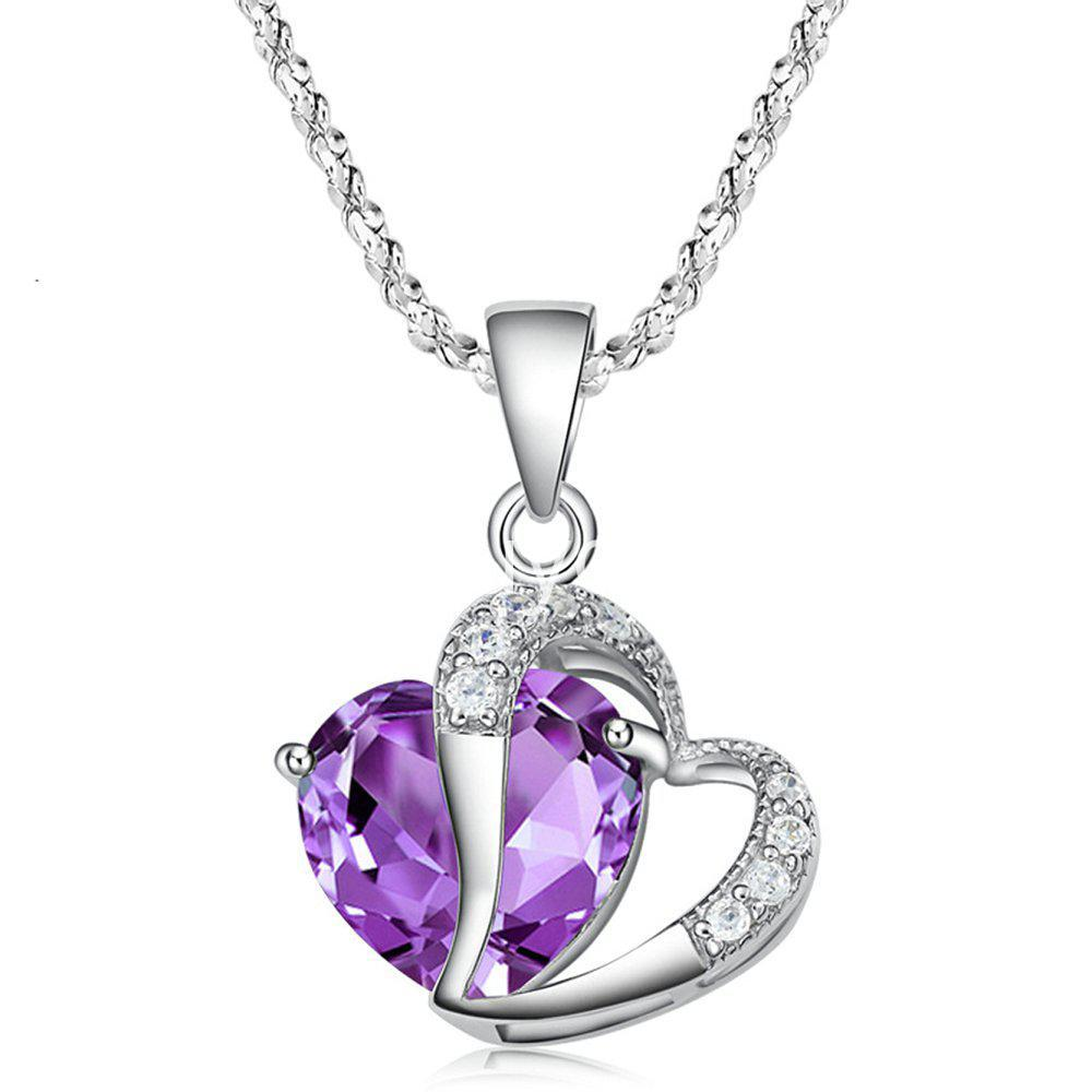 Best Deal New Crystal Pendant Necklaces Heart Chain Valentine Gifts Buyone Lk Online Shopping Store Send Gifts To Sri Lanka Buy Online Store In Sri Lanka