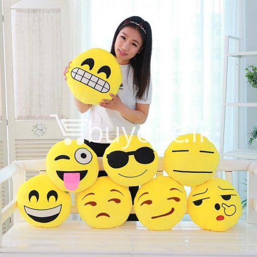 soft emotional smiley yellow round cushion pillow home and kitchen special best offer buy one lk sri lanka 10745 1 510x510 - Soft Emotional Smiley Yellow Round Cushion Pillow