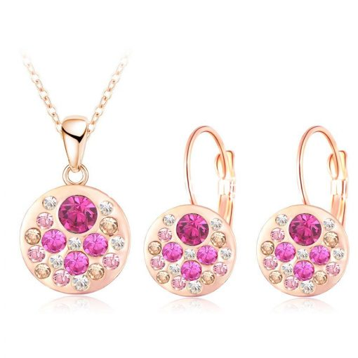 2016 new 18k rose gold plated pendantearrings jewelry set jewelry sets special best offer buy one lk sri lanka 63906 1 510x510 - 2016 New 18K Rose Gold Plated Pendant/Earrings Jewelry Set
