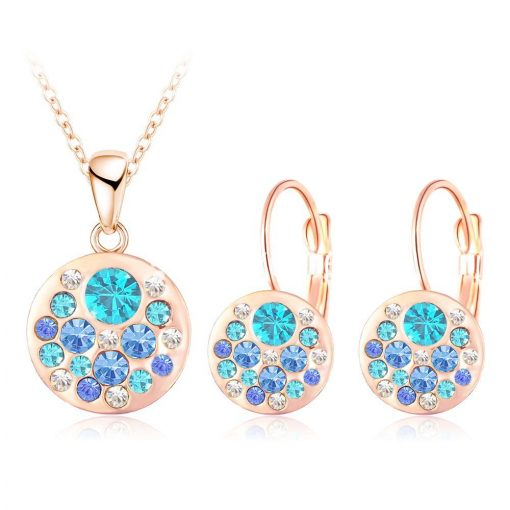 2016 new 18k rose gold plated pendantearrings jewelry set jewelry sets special best offer buy one lk sri lanka 63906 510x510 - 2016 New 18K Rose Gold Plated Pendant/Earrings Jewelry Set