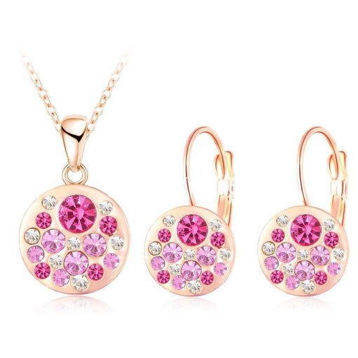 2016 new 18k rose gold plated pendantearrings jewelry set jewelry sets special best offer buy one lk sri lanka 63908 510x510 - 2016 New 18K Rose Gold Plated Pendant/Earrings Jewelry Set