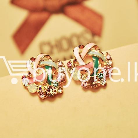 2016 new upscale temperament rhinestone stud earrings jewelry earrings special best offer buy one lk sri lanka 63034 - 2016 New Upscale Temperament Rhinestone Stud Earrings Jewelry