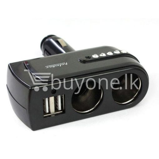 2 usb charger supply double sockets car cigarette lighter extender splitter automobile store special best offer buy one lk sri lanka 65756 1 510x510 - 2 USB Charger Supply + Double Sockets Car Cigarette Lighter Extender Splitter