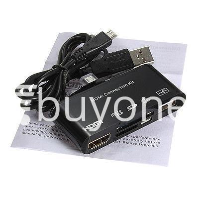 hdtv tv adapter with otg card reader for samsung galaxy s3 s4 s5 i9300 i9500 note 2 3 4 edge mobile phone accessories special best offer buy one lk sri lanka 97596 - HDTV TV Adapter with OTG Card Reader for Samsung Galaxy S3, S4, S5, i9300, i9500, Note 2 3 4 Edge