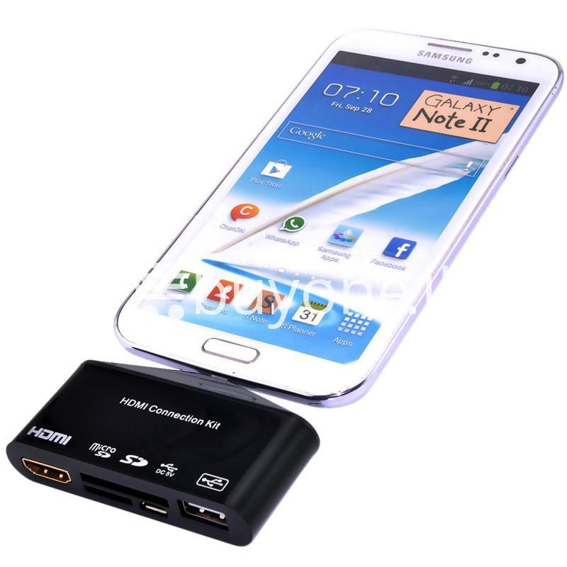 hdtv tv adapter with otg card reader for samsung galaxy s3 s4 s5 i9300 i9500 note 2 3 4 edge mobile phone accessories special best offer buy one lk sri lanka 97597 - HDTV TV Adapter with OTG Card Reader for Samsung Galaxy S3, S4, S5, i9300, i9500, Note 2 3 4 Edge