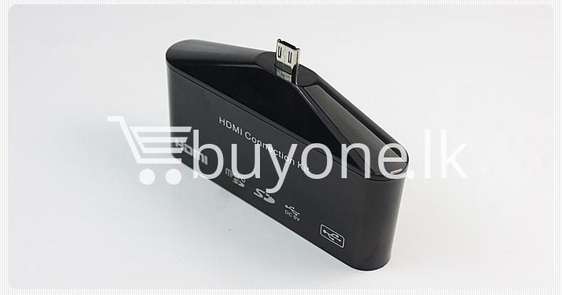 hdtv tv adapter with otg card reader for samsung galaxy s3 s4 s5 i9300 i9500 note 2 3 4 edge mobile phone accessories special best offer buy one lk sri lanka 97599 2 - HDTV TV Adapter with OTG Card Reader for Samsung Galaxy S3, S4, S5, i9300, i9500, Note 2 3 4 Edge