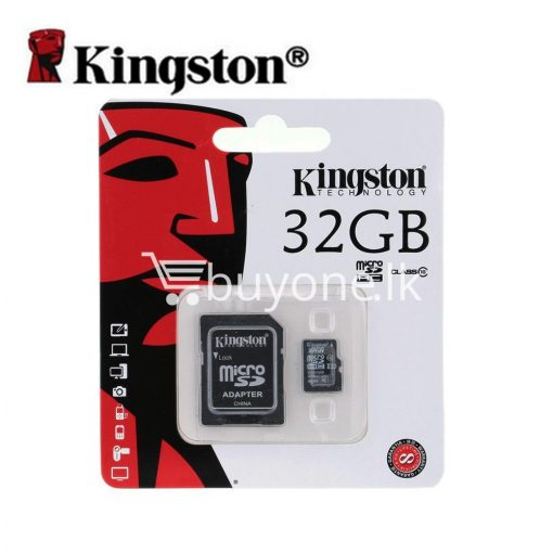 32gb kingston memory card micro sd class 10 sdhc with adapter mobile phone accessories special best offer buy one lk sri lanka 23382 510x510 - 32GB Kingston Memory Card Micro SD Class 10 SDHC with Adapter