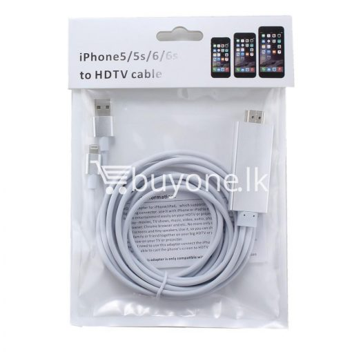 iphone hdmi 1080p hdtv cable for iphone 55s66plus6s6splusipad mobile phone accessories special best offer buy one lk sri lanka 25728 510x510 - iPhone HDMI 1080p HDTV Cable For iPhone 5/5S/6/6plus/6S/6SPlus/ipad