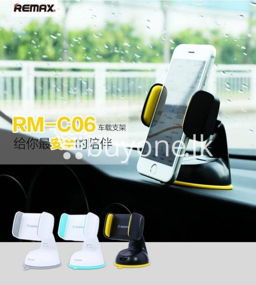 remax car mount holder with stand windshield 360 degree rotating mobile phone accessories special best offer buy one lk sri lanka 21676 510x566 - Remax Car Mount Holder with Stand Windshield 360 Degree Rotating