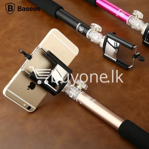 baseus stable series handheld extendable selfie stick with selfie remote mobile store special best offer buy one lk sri lanka 46181 510x510 - Baseus Stable Series Handheld Extendable Selfie Stick with Selfie Remote