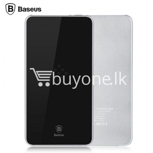 baseus wireless charging base with fast charger power bank 5000mah for iphone samsung htc mi mobile phones mobile phone accessories special best offer buy one lk sri lanka 74383 510x510 - BASEUS Wireless Charging Base with Fast Charger Power Bank 5000mAh For iPhone Samsung HTC MI Mobile Phones