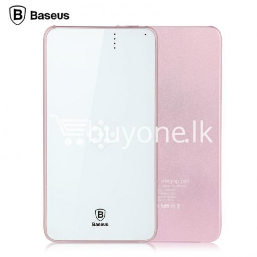 baseus wireless charging base with fast charger power bank 5000mah for iphone samsung htc mi mobile phones mobile phone accessories special best offer buy one lk sri lanka 74384 510x510 - BASEUS Wireless Charging Base with Fast Charger Power Bank 5000mAh For iPhone Samsung HTC MI Mobile Phones