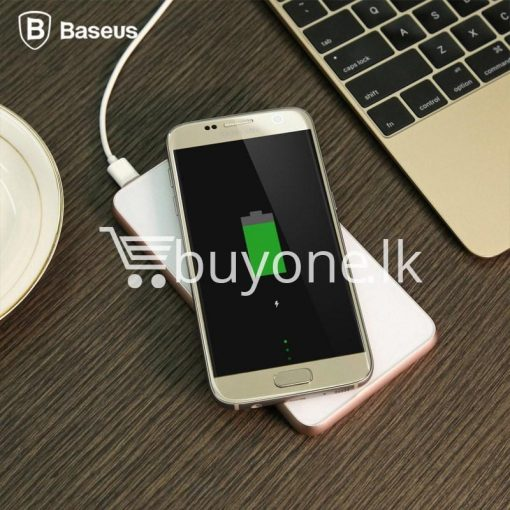 baseus wireless charging base with fast charger power bank 5000mah for iphone samsung htc mi mobile phones mobile phone accessories special best offer buy one lk sri lanka 74388 510x510 - BASEUS Wireless Charging Base with Fast Charger Power Bank 5000mAh For iPhone Samsung HTC MI Mobile Phones