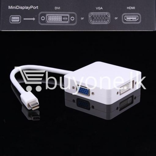 mini 3 in1 display port to hdmi vga dvi converter adapter for apple macbook imac hdmi digital cables computer store special best offer buy one lk sri lanka 65805 510x510 - Mini 3 in1 Display Port to HDMI VGA DVI Converter Adapter for Apple MacBook iMac HDMI Digital Cables