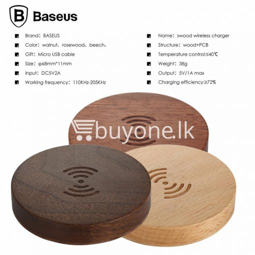 original baseus qi wireless charger for samsung iphone htc mi mobile phone accessories special best offer buy one lk sri lanka 73729 510x510 - Original Baseus Qi Wireless Charger for Samsung iPhone HTC Mi