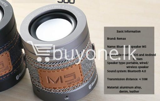 original remax m5 portable mini wireless bluetooth speaker mobile phone accessories special best offer buy one lk sri lanka 01178 510x321 - Original REMAX M5 Portable Mini Wireless Bluetooth Speaker