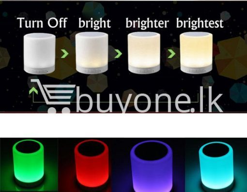 portable touch led lamp night light wireless bluetooth speaker mobile phone accessories special best offer buy one lk sri lanka 11972 510x396 - Portable Touch LED Lamp Night Light Wireless Bluetooth Speaker