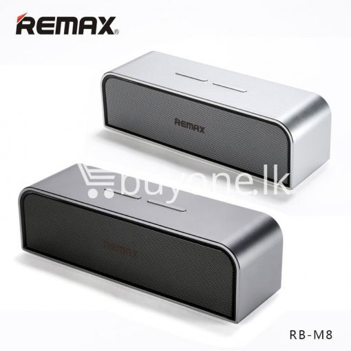 remax rb m8 portable aluminum wireless bluetooth 4.0 speakers with clear bass computer accessories special best offer buy one lk sri lanka 57636 510x510 - REMAX RB-M8 Portable Aluminum Wireless Bluetooth 4.0 Speakers with Clear Bass