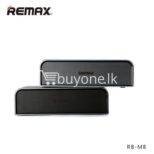 remax rb m8 portable aluminum wireless bluetooth 4.0 speakers with clear bass computer accessories special best offer buy one lk sri lanka 57637 510x510 - REMAX RB-M8 Portable Aluminum Wireless Bluetooth 4.0 Speakers with Clear Bass