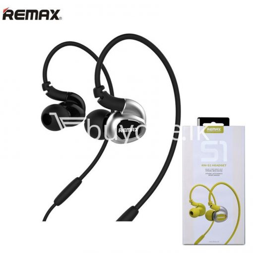 remax s1 stereo sport earphones deep bass music earbuds with microphone mobile phone accessories special best offer buy one lk sri lanka 48025 510x510 - Remax S1 Stereo Sport Earphones Deep Bass Music Earbuds with Microphone