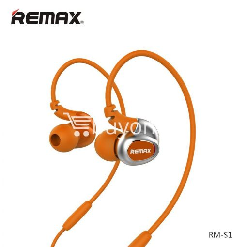 remax s1 stereo sport earphones deep bass music earbuds with microphone mobile phone accessories special best offer buy one lk sri lanka 48028 510x510 - Remax S1 Stereo Sport Earphones Deep Bass Music Earbuds with Microphone