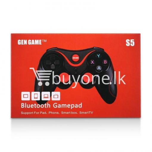 gen game s5 wireless bluetooth controller gamepad for ios android os phone tablet pc smart tv with holder special best offer buy one lk sri lanka 00567 510x510 - GEN GAME S5 Wireless Bluetooth Controller Gamepad For IOS Android OS Phone Tablet PC Smart TV With Holder