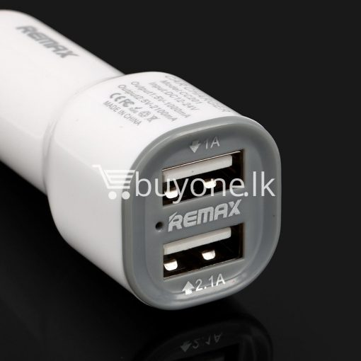 remax car charger dual usb port charger for iphone samsung htc smart phones automobile store special best offer buy one lk sri lanka 53710 510x510 - Remax Car Charger Dual USB Port Charger For iPhone Samsung HTC Smart Phones