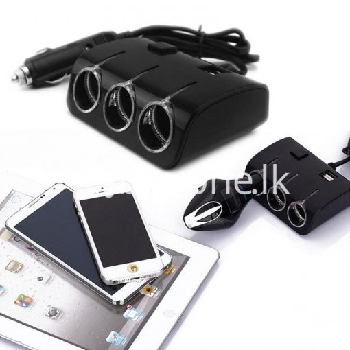 universal car sockets 3 ways with dual usb charger for iphone samsung htc nokia automobile store special best offer buy one lk sri lanka 19845 510x510 - Universal Car Sockets 3 Ways with Dual USB Charger For iPhone Samsung HTC Nokia