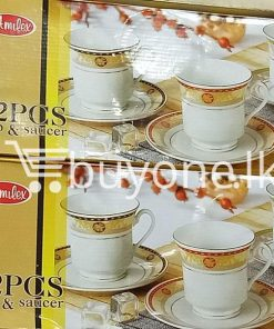amilex 12pcs cup saucer home and kitchen special best offer buy one lk sri lanka 99460 247x296 - Amilex 12pcs Cup & Saucer