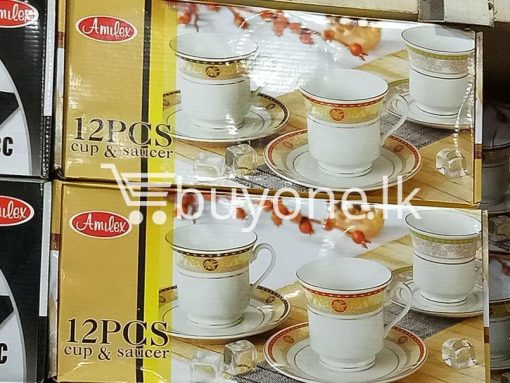 amilex 12pcs cup saucer home and kitchen special best offer buy one lk sri lanka 99460 510x383 - Amilex 12pcs Cup & Saucer