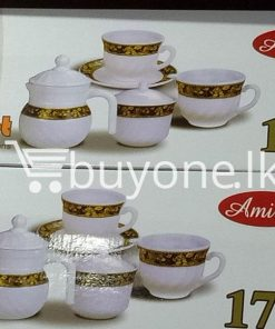 amilex 17pcs tea set service for 6 persons home and kitchen special best offer buy one lk sri lanka 99498 247x296 - Amilex 17pcs Tea Set Service For 6 Persons