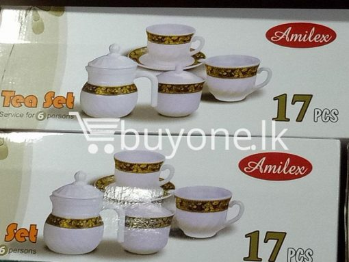 amilex 17pcs tea set service for 6 persons home and kitchen special best offer buy one lk sri lanka 99498 510x383 - Amilex 17pcs Tea Set Service For 6 Persons