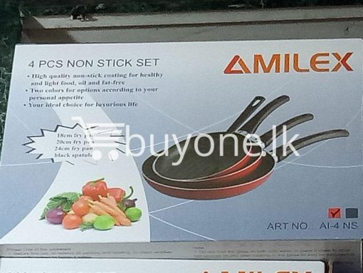 amilex 4pcs non stick set for healthy and light food home and kitchen special best offer buy one lk sri lanka 99501 510x383 - Amilex 4Pcs Non Stick Set For Healthy and Light Food