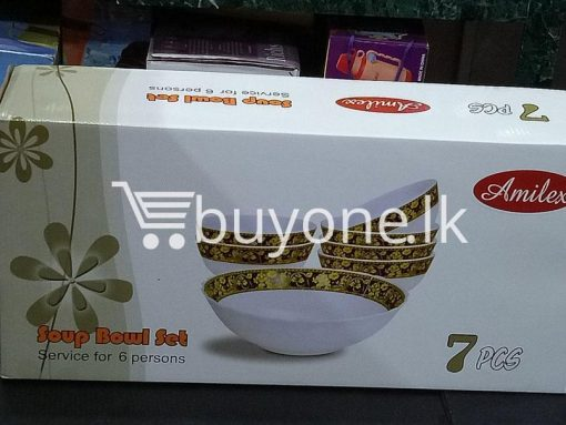 amilex 7pcs soup boul set service for 6 persons home and kitchen special best offer buy one lk sri lanka 99514 510x383 - Amilex 7pcs Soup Boul Set Service For 6 Persons