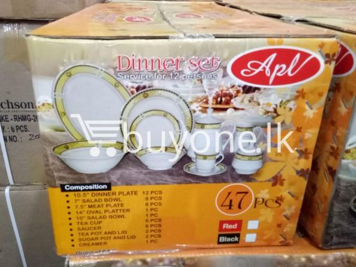 apl 47pcs dinner set service for 12 persons home and kitchen special best offer buy one lk sri lanka 99526 510x383 - APL 47pcs Dinner Set Service for 12 Persons