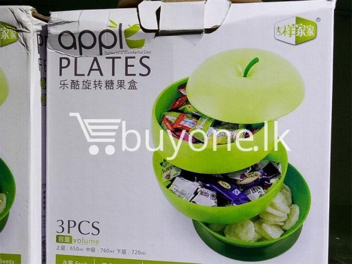 apple plates 3pcs volume set home and kitchen special best offer buy one lk sri lanka 99672 510x383 - Apple Plates 3pcs Volume Set