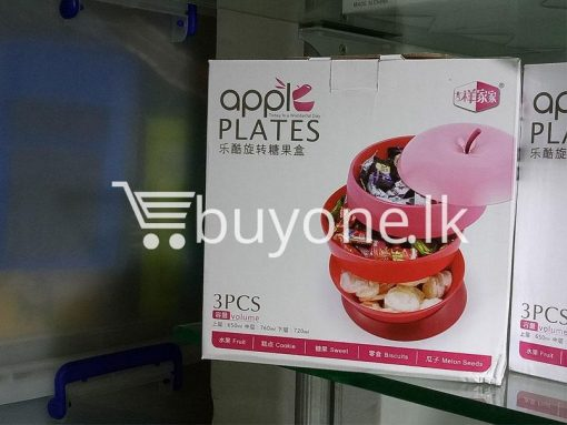 apple plates 3pcs volume set home and kitchen special best offer buy one lk sri lanka 99673 510x383 - Apple Plates 3pcs Volume Set