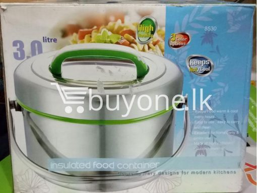 insulated food container 3 litre keeps high quality hot cool home and kitchen special best offer buy one lk sri lanka 99467 510x383 - Insulated Food Container 3 Litre Keeps High Quality Hot-Cool
