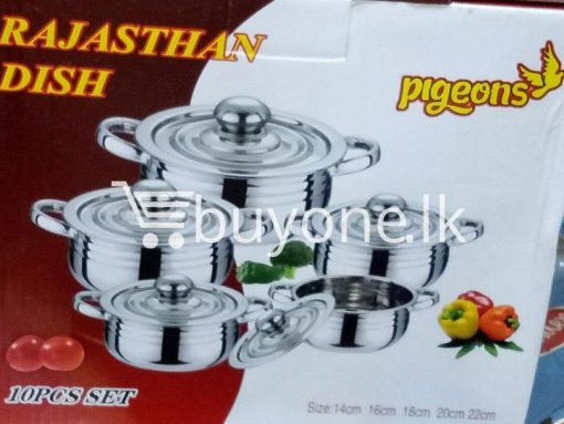 pigeons rajasthan dish 10pcs set home and kitchen special best offer buy one lk sri lanka 99471 510x383 - Pigeons Rajasthan Dish 10pcs Set
